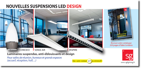 Catalogue Eclairage Architectural - Suspensions LED Design