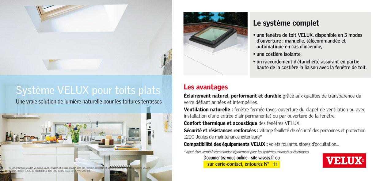 Velux france syst me fen tre pour toit plat - Systeme occultant pour fenetre ...