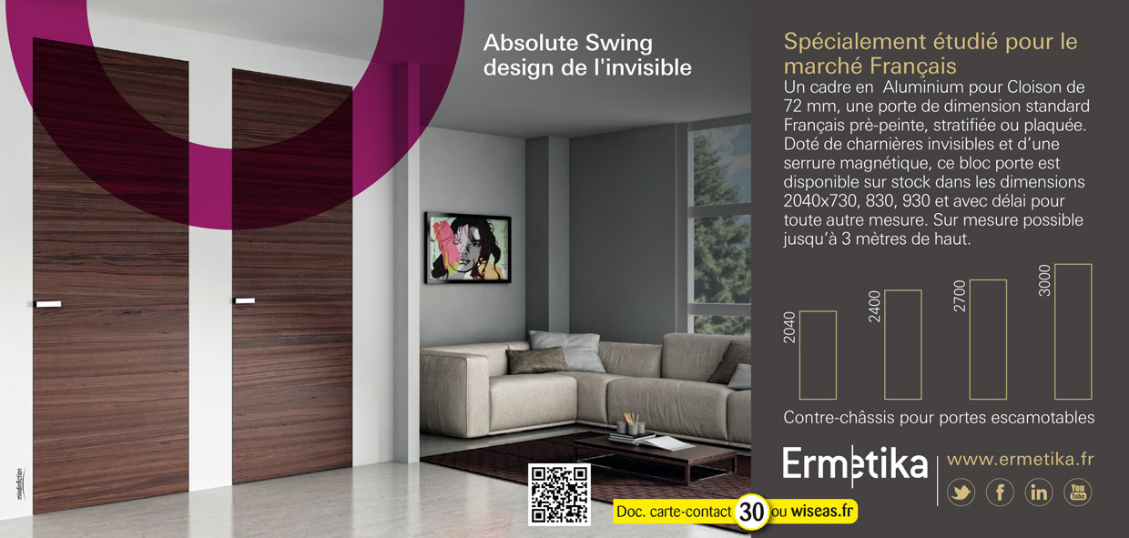 ermetika absolute swing. Black Bedroom Furniture Sets. Home Design Ideas