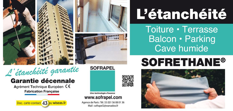 sofrapel etancheite sofrethane. Black Bedroom Furniture Sets. Home Design Ideas