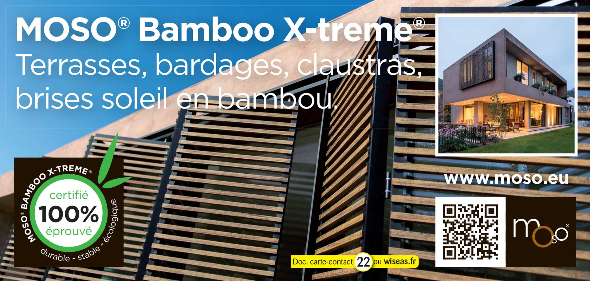 Bamboo X-treme® pour terrasses, bardages, claustras