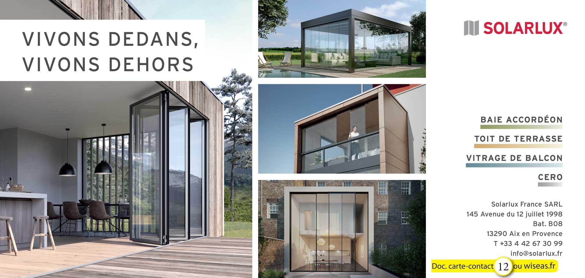 Baie Vitrée Pliante En Accordéon Prix solarlux france - baie vitrées pliantes - toit de terrasse