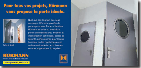 hormann france portes int rieur acier ou alu portes universelles. Black Bedroom Furniture Sets. Home Design Ideas