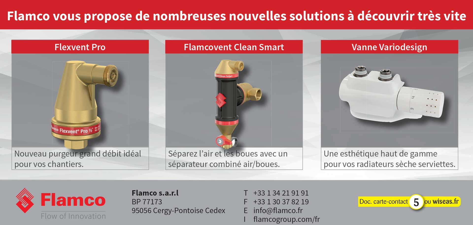 Flexvent Pro - Flamcovent Clean Smart - Variodesign
