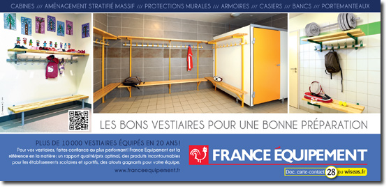 france equipement quipements vestiaires. Black Bedroom Furniture Sets. Home Design Ideas