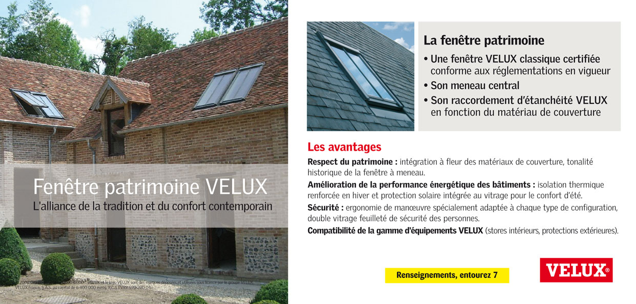 velux france fenetre de toit patrimoine. Black Bedroom Furniture Sets. Home Design Ideas