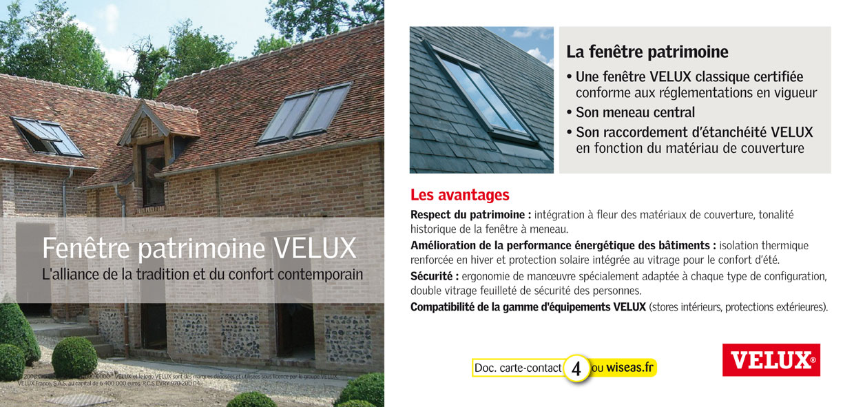 velux france patrimoine. Black Bedroom Furniture Sets. Home Design Ideas