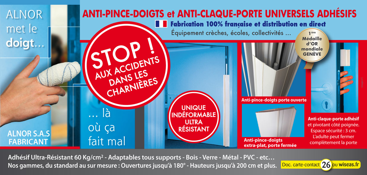 Anti pince-doigts - anti claque-portes