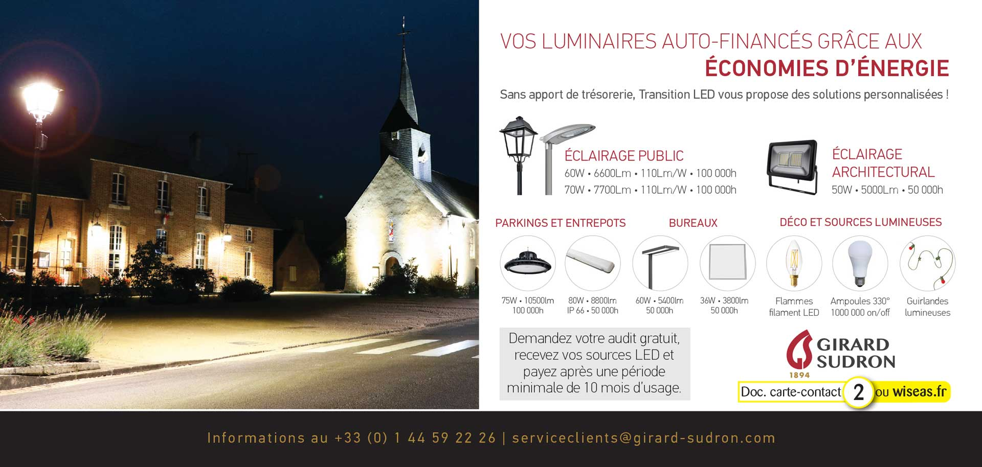 Transition LED, vos luminaires auto-financés