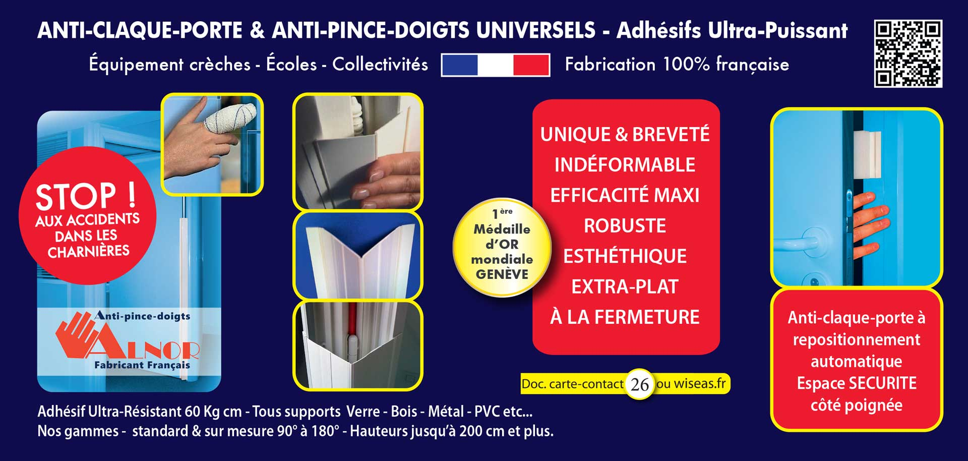 Anti-claque porte - anti pince doigts universels