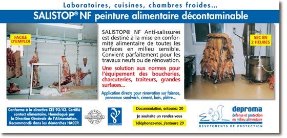 Deproma peinture alimentaire anti adh rente salistop for Peinture alimentaire cuisine