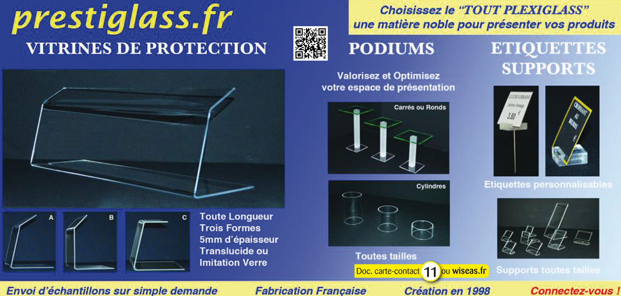 Podiums, étiquettes, supports