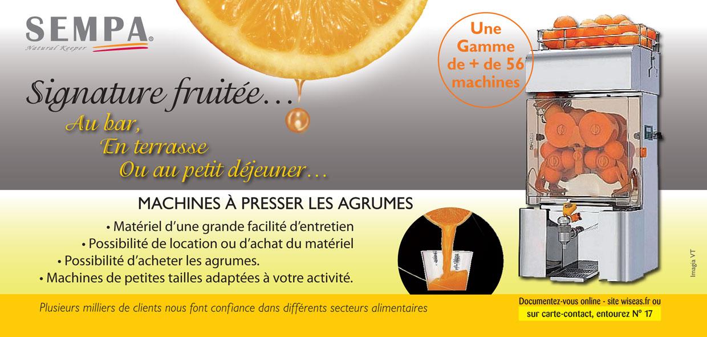 sempa machines jus d 39 orange frais press presse agrumes automat. Black Bedroom Furniture Sets. Home Design Ideas