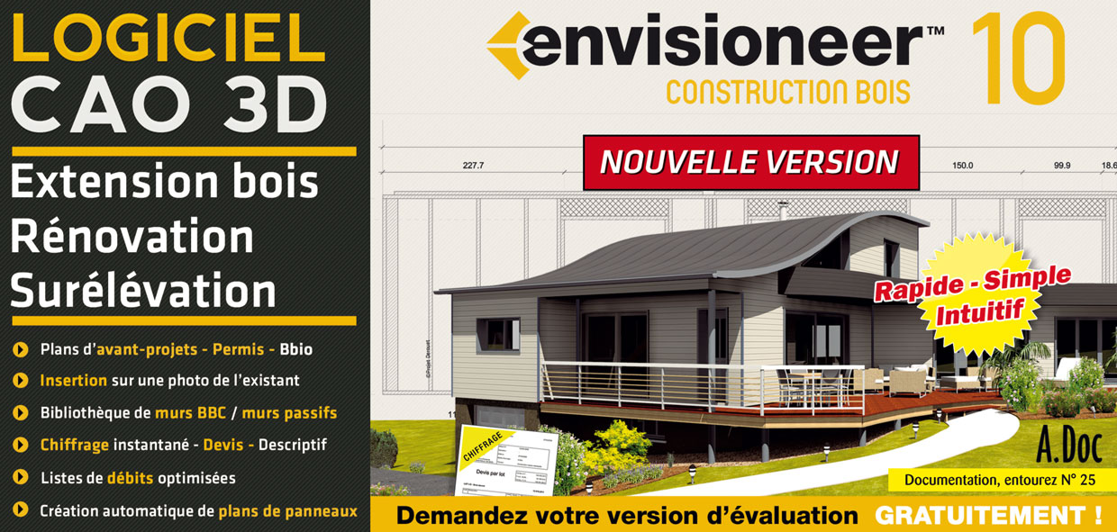 Envisionneer Construction Bois version 10