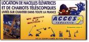 ACCES INDUSTRIE - Location nacelles, Location chariots