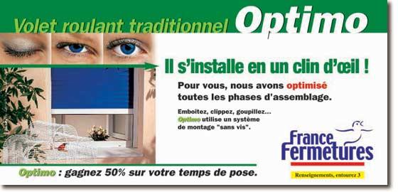 France fermetures volet roulant traditionnel optimo for Notice de montage porte de garage sectionnelle france fermeture