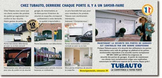 Tubauto portes de garage basculantes ou sectionnelles - Porte de garage sectionnelle tubauto ...