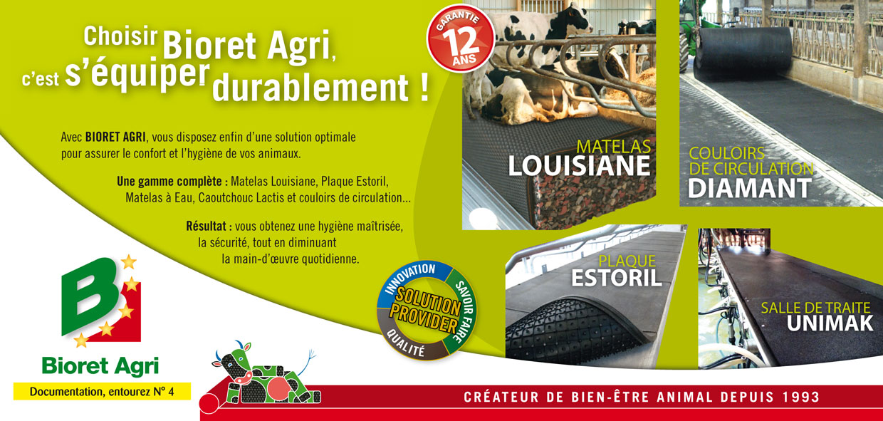 bioret agri matelas plaque logette caoutchouc lactis couloirs. Black Bedroom Furniture Sets. Home Design Ideas