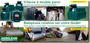 AGRILEAD - Citerne, balayeuse rotative