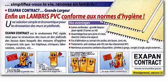 Philcomatic lambris pvc grande largeur aux normes d 39 hygiene - Lambris grande largeur ...